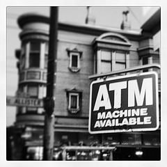 ATM machine sign